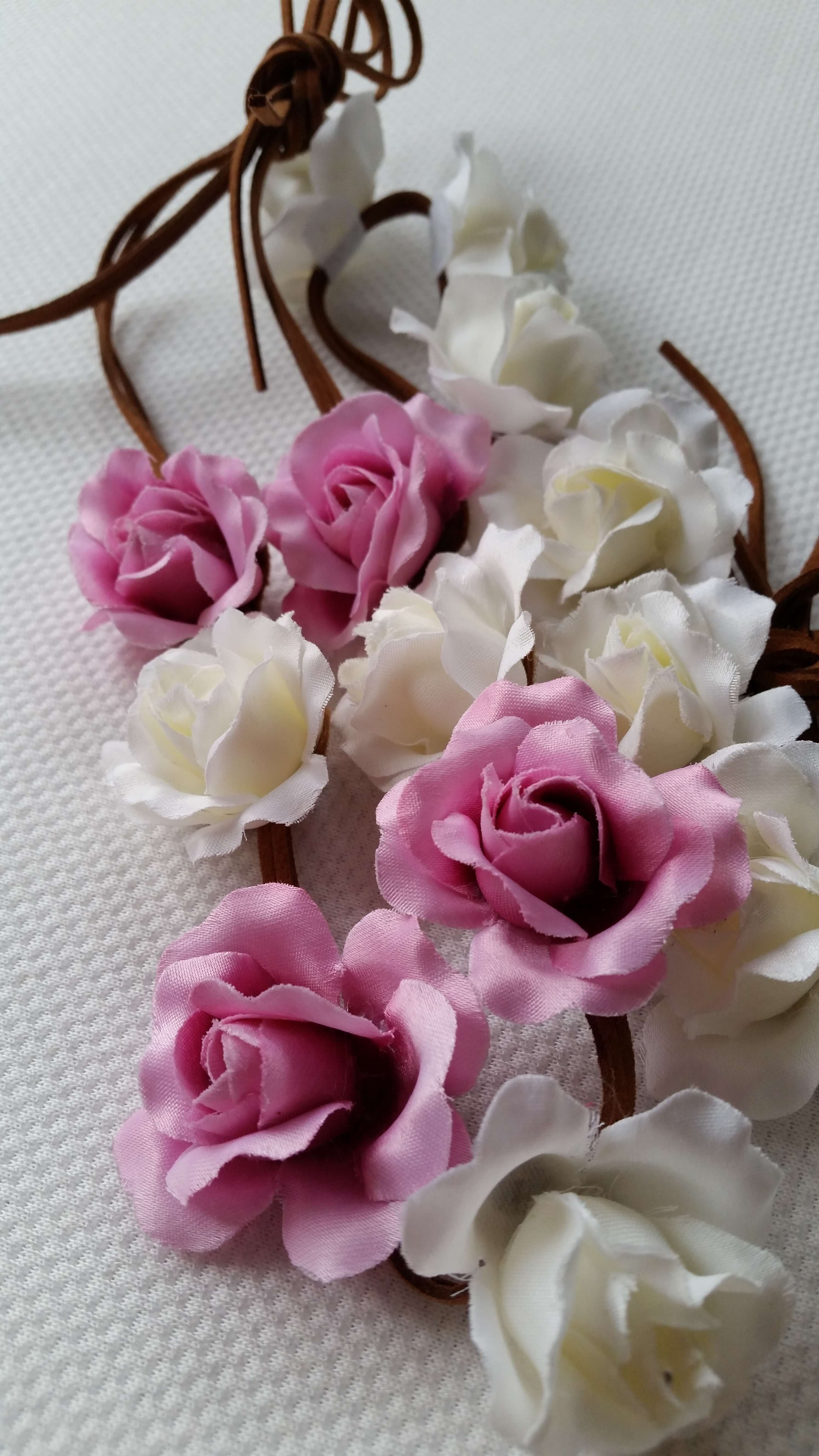 fejpánt/hajpánt (fehér és rózsaszín)